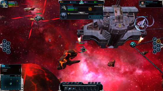 Andromeda 5 - Gameplay Screenshot: Kampf vor einer Raumbasis