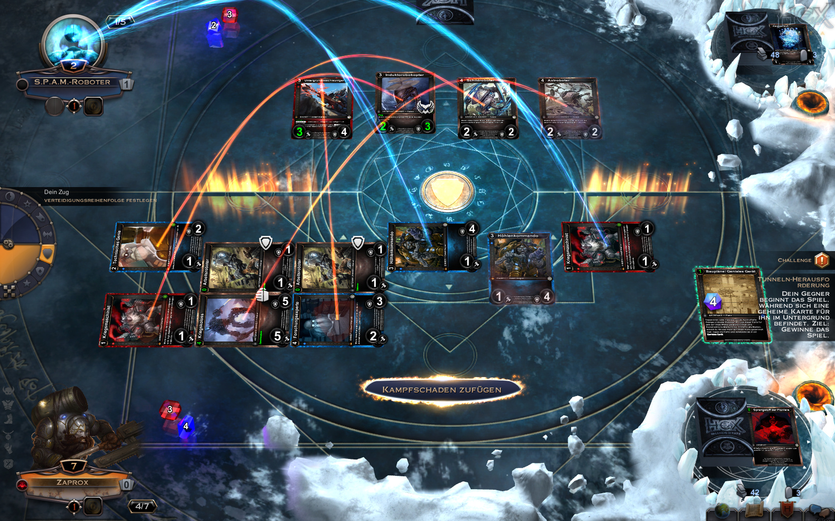 Gameplay-Screenshot von Hex, Shards of Fate