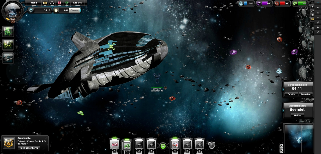 Online Weltraumspiel