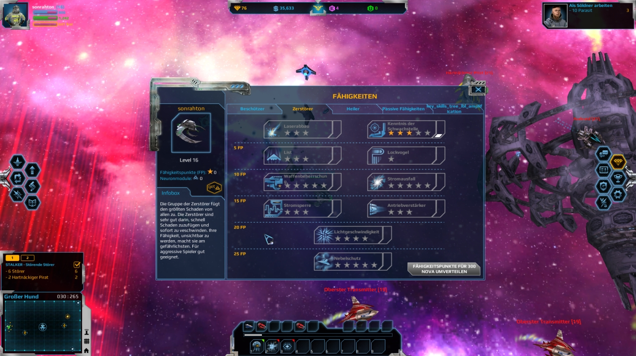 Browsergame Weltraum
