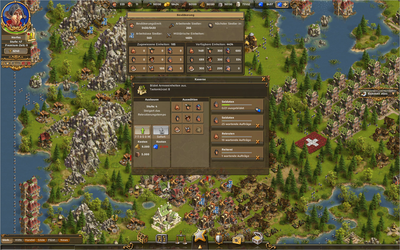 Die Siedler Online Gameplay Screenshot: Spezialgebäude - Die Kaserne.