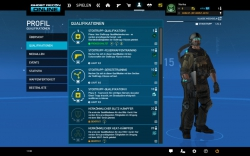 Ghost Recon Online Screenshot - Profil / Freischaltbare Qualifikationen