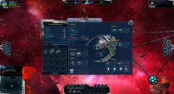 Raumschiff mit Inventar und Ausrüstungsslots