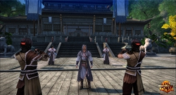 Age of Wulin Screenshot: Training im Gildenbereich