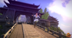 Age of Wulin Screenshot: Tempelumgebung