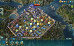Prime World Gameplay-Screenshot #1 - Schlossansicht mit Baumenü.